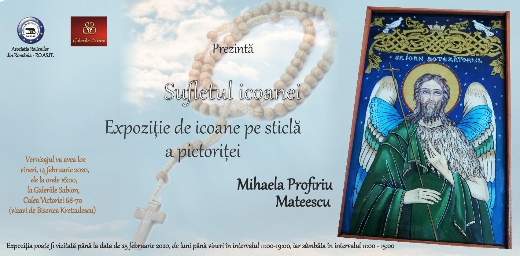 Expozitia Sufletul Icoanei în Galeriile Sabion