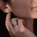 Cercei BB.761649, aur rose, 14 kt, diamante și london blue topaz