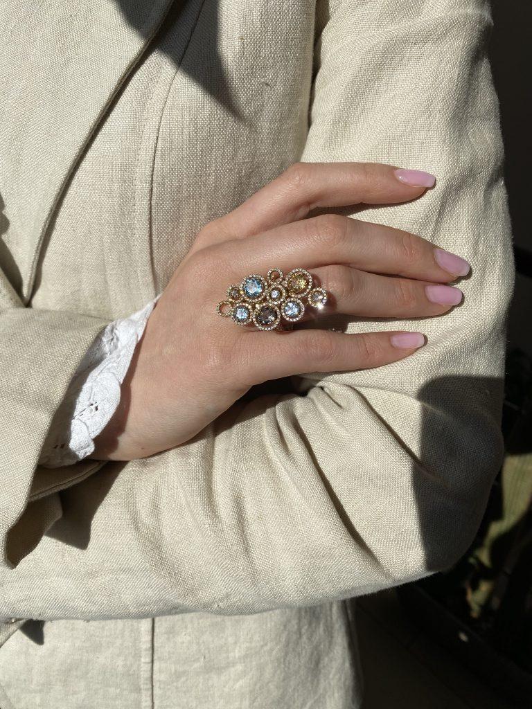 cadouri pentru ea - inel pietre pretioase sabion