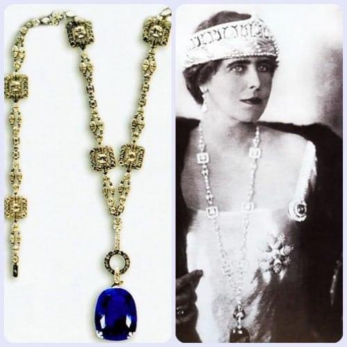 regina maria pandant safir